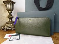 Mulberry Part Zip Around Purse Continental Purse in Racing Green & Indigo Printed Goat - New