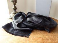 Mulberry Monogram Star Jacquard Scarf in Black Silk & Wool - As New