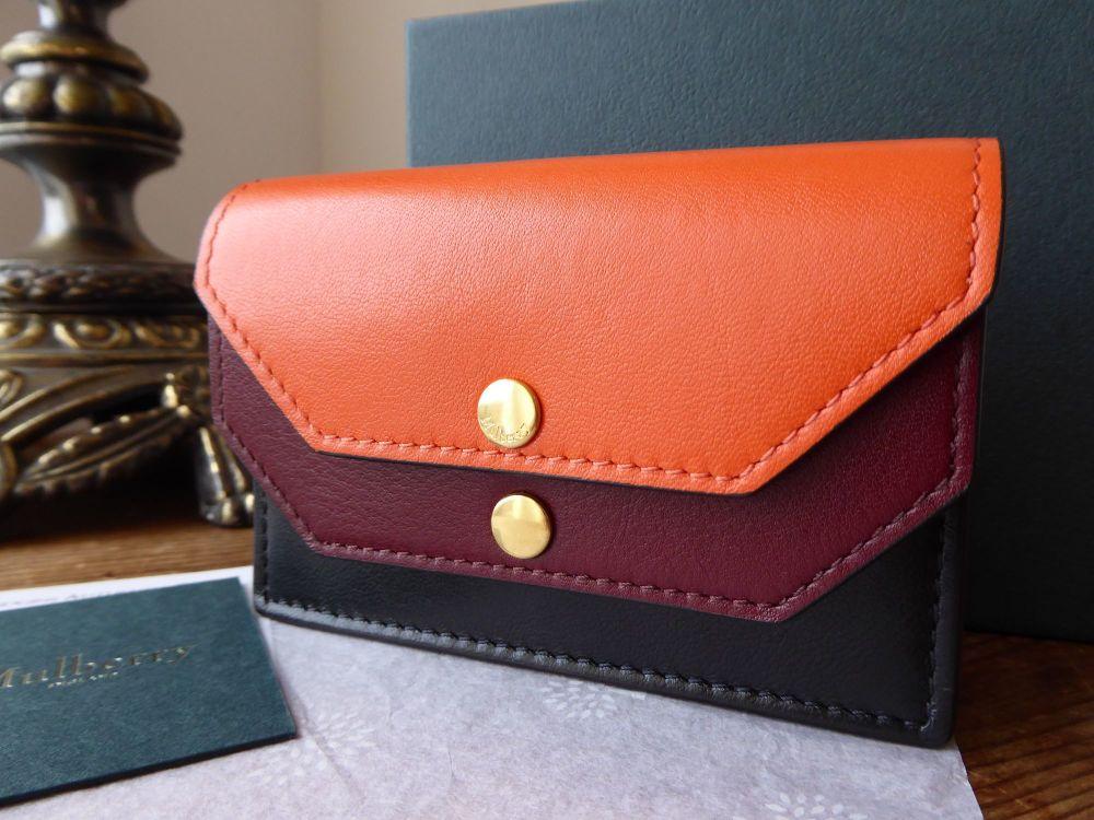 Mulberry Multiflap Multi Card Case Purse in Multicoloured Smooth Calf - New