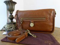 Mulberry Somerset Small Satchel Shoulder Messenger in Oak  Pebbled Leather