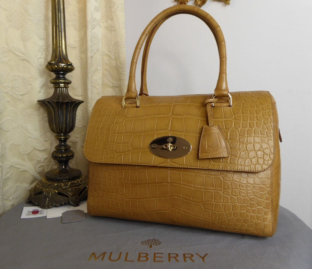Mulberry Large Del Ray in Deer Brown Alligator - New