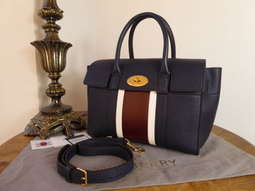 355a7fb5ad Mulberry Small Bayswater in College Stripe Small Classic Grain - SOLD