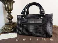 Celine Mini Boogie in Crystal Encrusted Black Silk