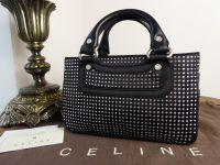 Celine Mini Boogie in Crystal Encrusted Black Silk