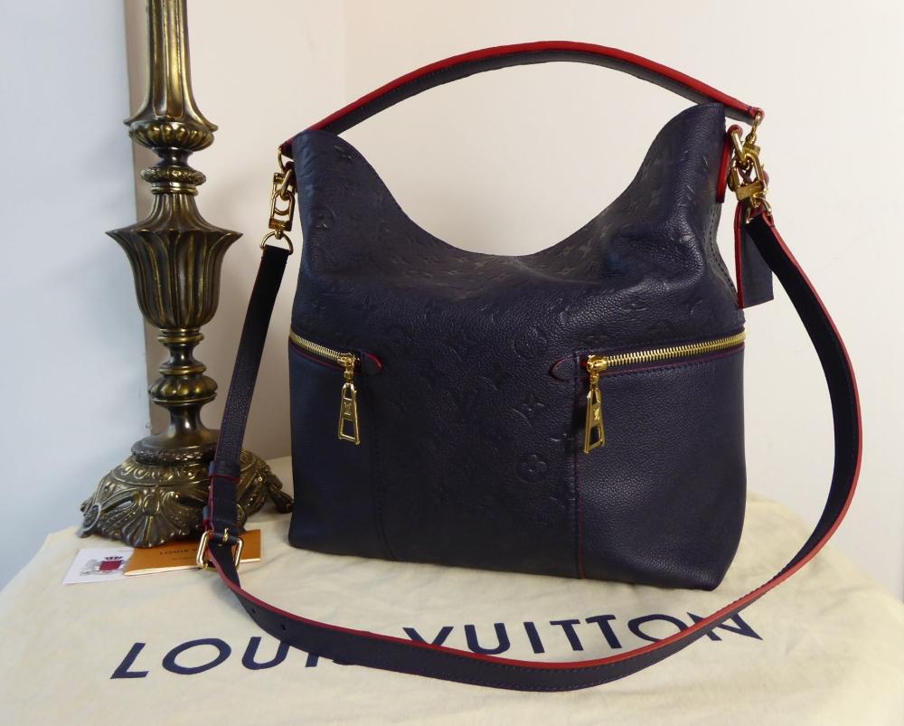 Louis Vuitton Mélie Hobo in Empreinte Marine Rouge
