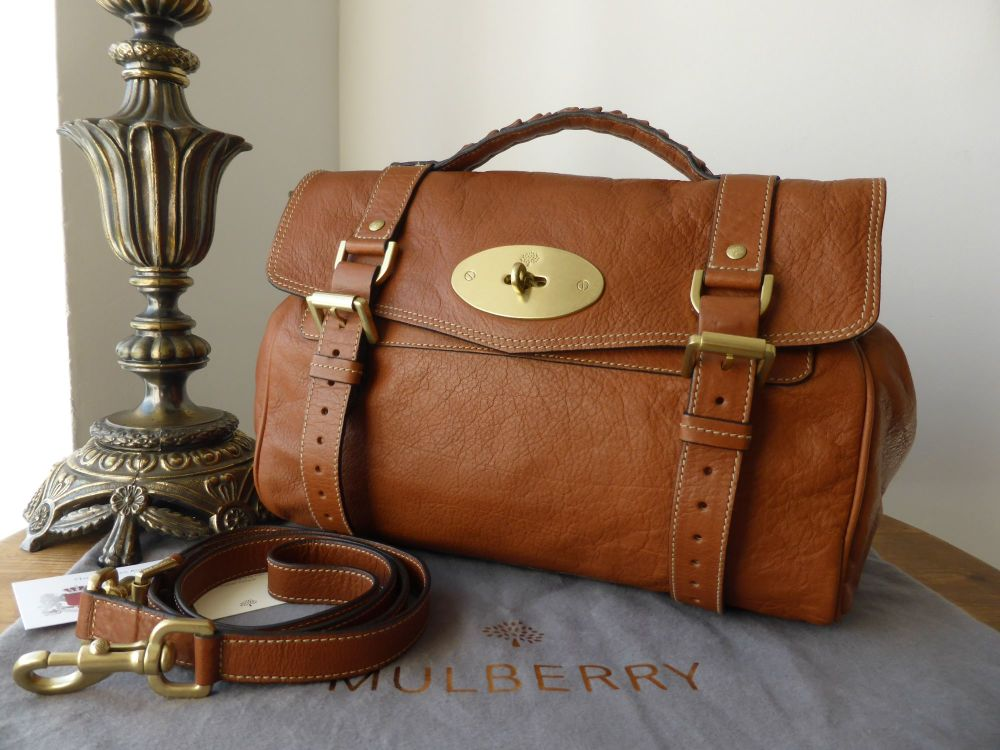Mulberry Regular Alexa Satchel in Oak Soft Buffalo Leather
