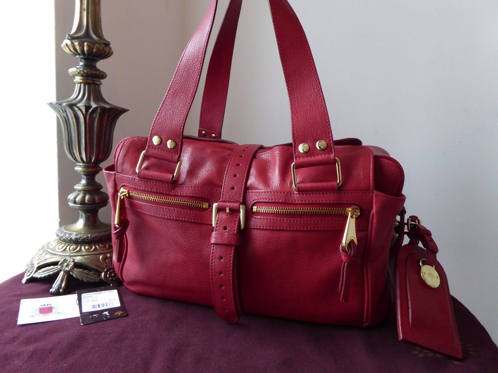 Mulberry Medium Mabel Shoulder Bag in Red Soft Goatskin