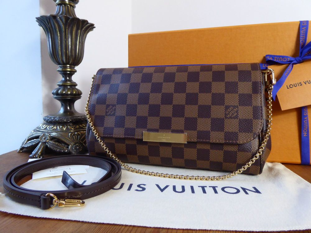 Louis Vuitton Favorite MM in Damier Ebene - New