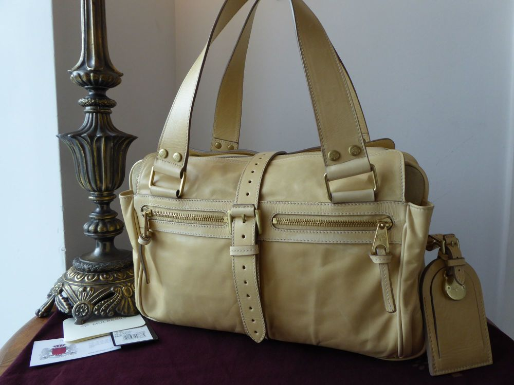 Mulberry Medium Mabel in Sand Lightweight Antiqued Leather - New