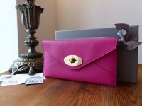 Mulberry Envelope Continental Purse Wallet in Mulberry Pink Glossy Goat - New