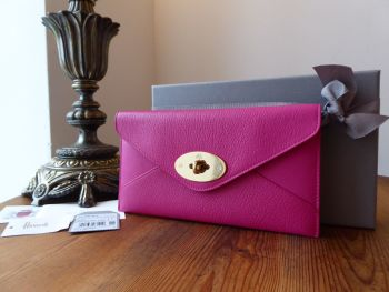 f6817496af8 Mulberry Envelope Continental Purse Wallet in Mulberry Pink Glossy Goat -  SOLD
