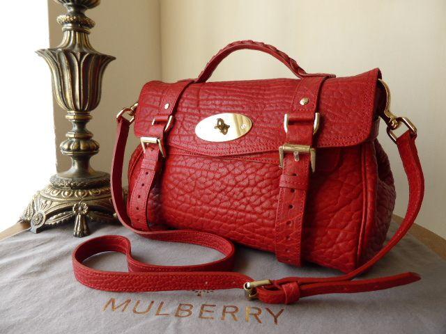 Mulberry Regular Alexa in Poppy Red Shrunken Calf Leather - SOLD