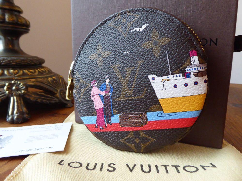 Louis Vuitton Limited Edition Transatlantic Animation Print Monogram Round