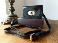 Mulberry Bayswater Mini Messenger in Black Drummed Patent Leather - New