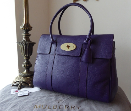 6c9e6d5e33f7 ... sweden mulberry limited edition john lewis 150th anniversary classic  bayswater in purple glossy goat leather sold