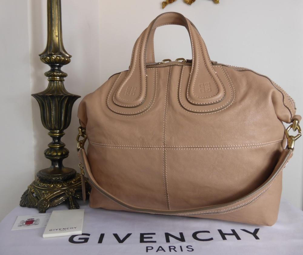 Givenchy Nightingale Medium in Linen Beige Glazed Lambskin