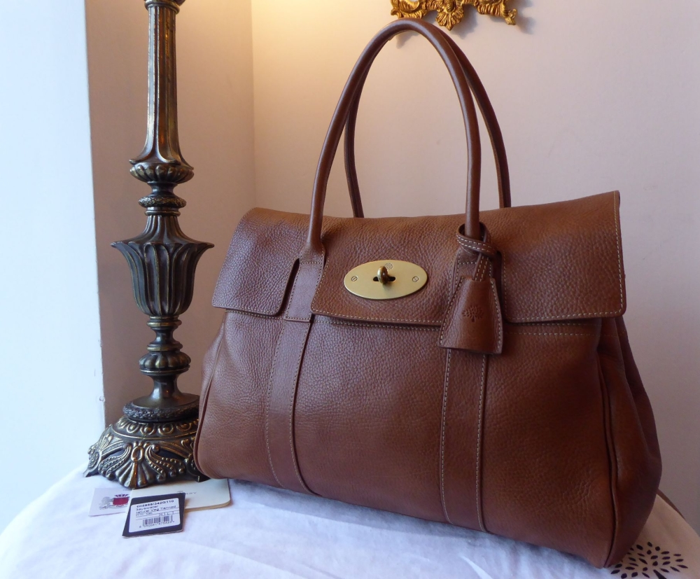 Mulberry Classic Bayswater in Oak Natural Leather with Brass Hardware & Sam