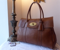 Mulberry Classic Bayswater in Oak Natural Leather with Brass Hardware & Samorga Liner