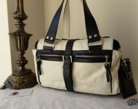 Mulberry Medium Mabel in Monochrome Grainy Leather