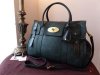 Mulberry Heritage Bayswater in Pheasant Green Soft Matte High Pebbled Patent Mix