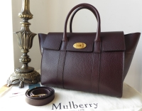 Mulberry Small Bayswater in Oxblood Grained Vegetable Tanned Leather - As New*