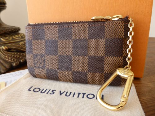 louis vuitton key porte cles zip pouch in damier ebene sold. Black Bedroom Furniture Sets. Home Design Ideas