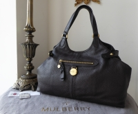 Mulberry Somerset Shoulder Tote in Chocolate Pebbled Leather - As New