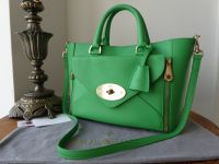 Mulberry Small Willow in Queen Green Silky Classic Calf