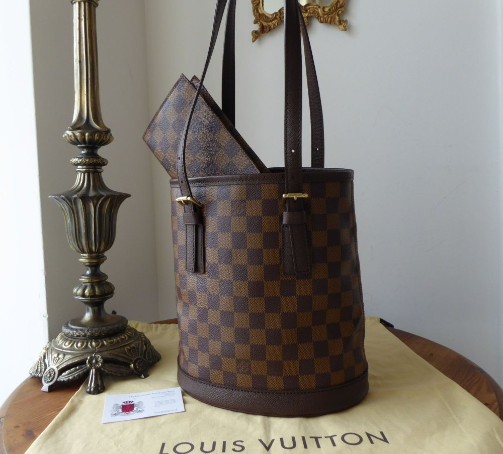 06042693a46b Louis Vuitton Petit Marais Bucket Bag in Damier Ebene - SOLD