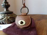 Mulberry Vintage Locked Mini Pouch Bag Charm Key Ring in Oak Darwin