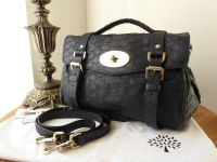 23933eec365 Mulberry Regular Alexa in Nightshade Blue Large Silky Snake Print - SOLD
