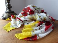 Dolce & Gabbana Poppies and Daisies Large Wrap Modal Cashmere Mix