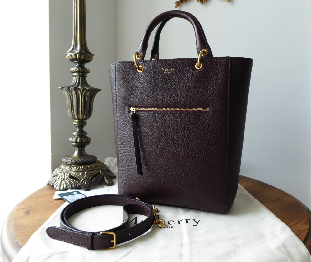 Mulberry Small Maple in Oxblood Grained Vegetable Tanned Leather