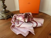 Hermés Brides Rebelles Square Scarf in Rose Pale / Vieux Rose / Bronze 100% Silk Twill - New