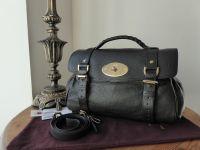 Mulberry Regular Alexa in Black Polished Buffalo Leather with Shiny Gold Hardware