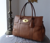 Mulberry Classic Bayswater in Oak Natural Leather with Soft Gold Hardware