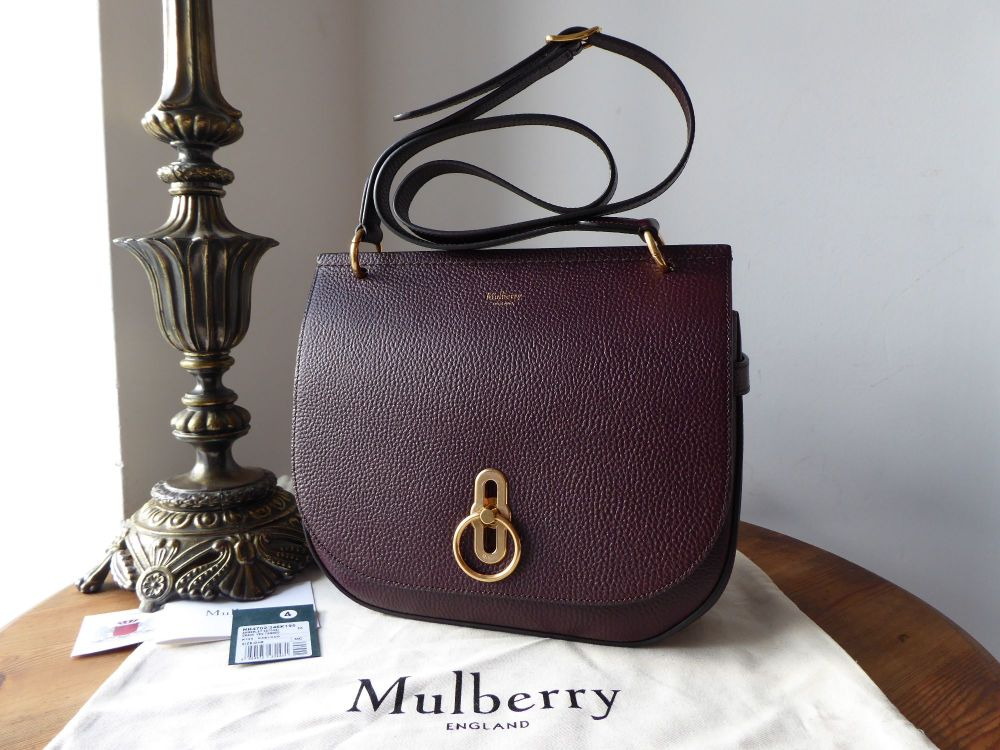 Mulberry Amberley Satchel in Oxblood Grained Vegetable Tanned Leather- New