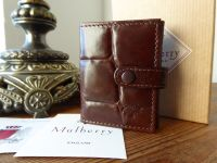 Mulberry Mini Folded Photo Frame Wallet in Chocolate Darwin - New
