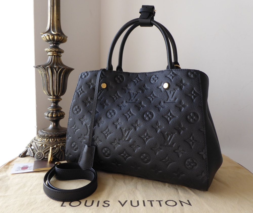 Louis Vuitton Montaigne MM Empreinte Noir