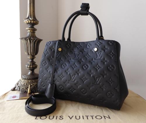 Louis Vuitton Montaigne MM Empreinte Noir - SOLD 11662f0216c2d