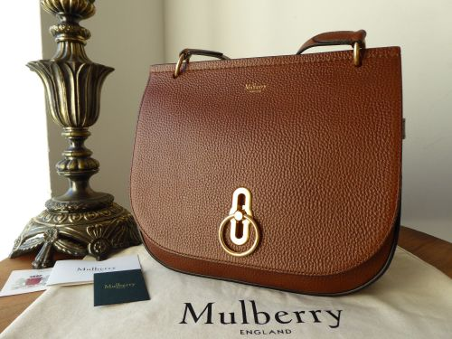 de31ca98f223 Mulberry Amberley Satchel in Oak Grained Vegetable Tanned - As New