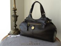 Mulberry Somerset Shoulder Tote in Chocolate Pebbled Leather - New*