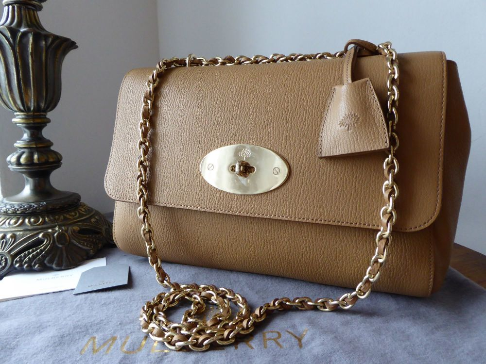 Mulberry Medium Lily in Deer Brown Grainy Print Leather - As New