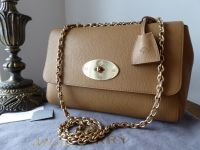 Mulberry Medium Lily in Deer Brown Grainy Print Leather - New*