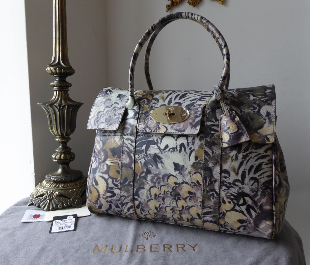 Mulberry Classic Feathered Friends Bayswater in Printed Smooth Grain Leathe