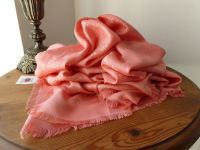 Louis Vuitton Monogram Shawl in Peach Silk Cotton Mix
