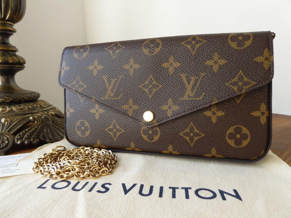Louis Vuitton Félicie Chain Wallet in Monogram Fuchsia - New*