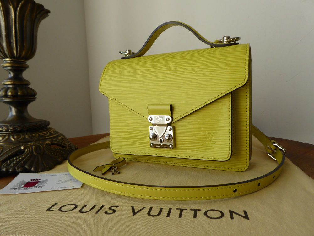 Louis Vuitton Monceau Mini Satchel in Epi Pistache