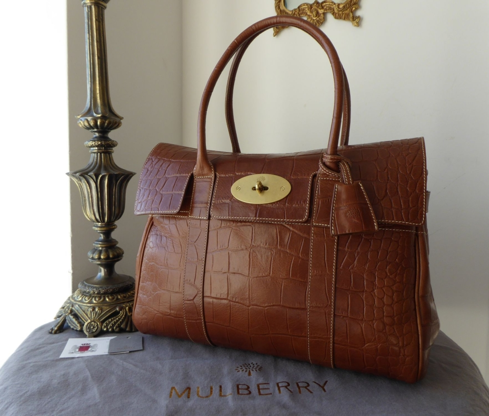 Mulberry Classic Bayswater in Oak Printed Leather