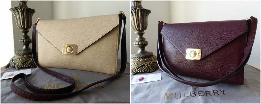 Mulberry Delphie Two Way Shoulder Bag in Oxblood and Powder Small Classic G